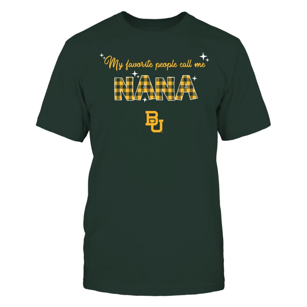 Baylor Bears - My Favorite People Call Me Nana - Checkered Pattern Front picture