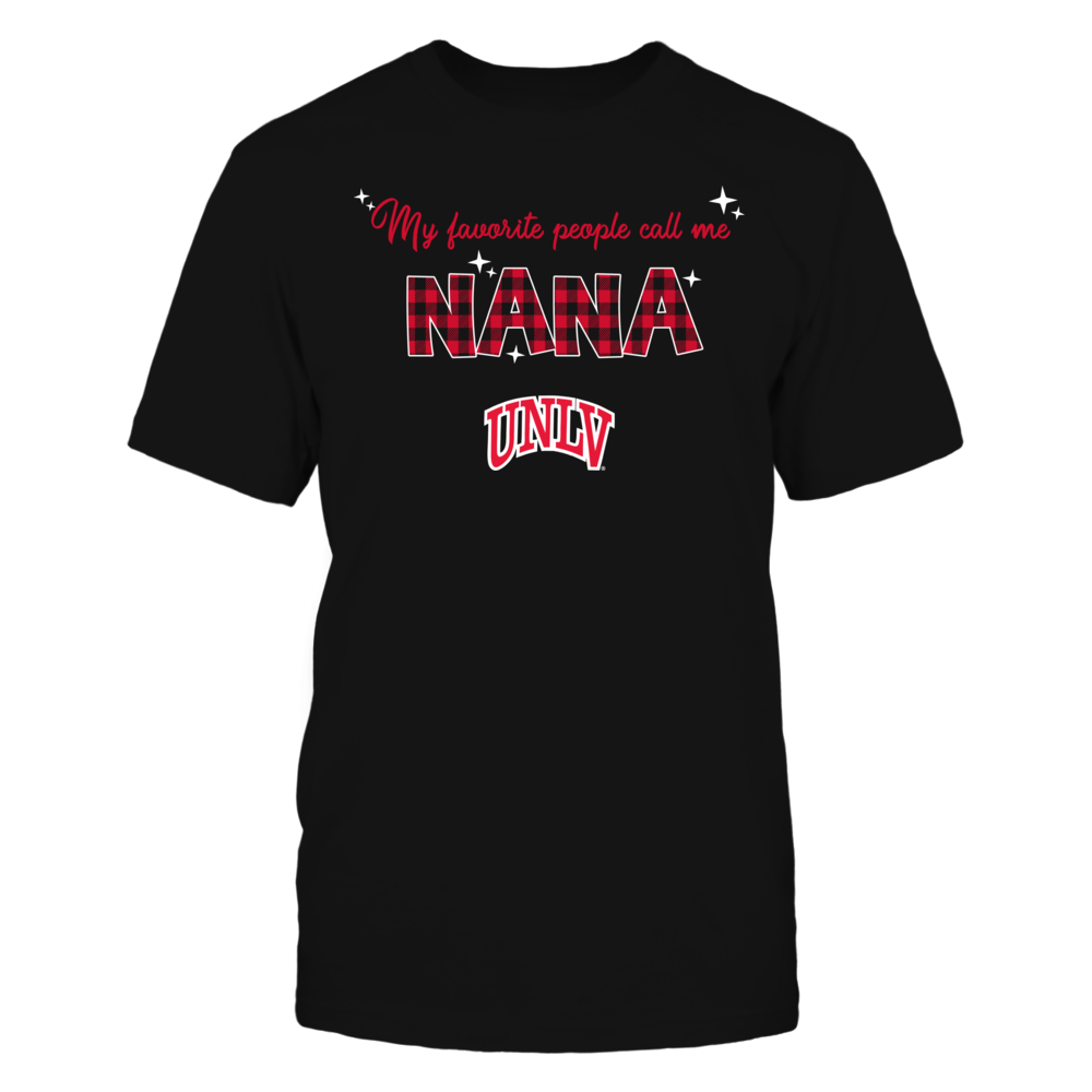 UNLV Rebels - My Favorite People Call Me Nana - Checkered Pattern Front picture