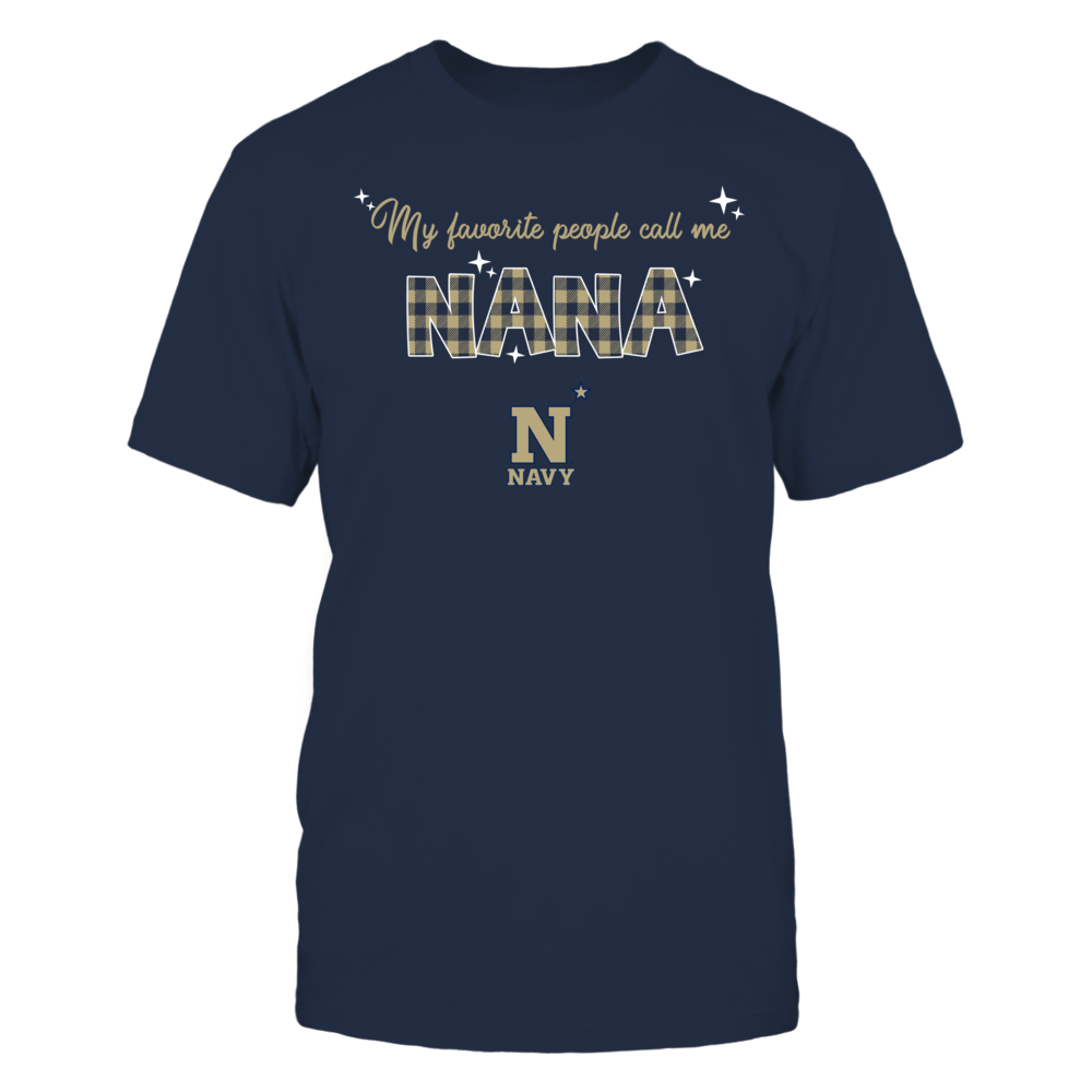 Navy Midshipmen - My Favorite People Call Me Nana - Checkered Pattern Front picture