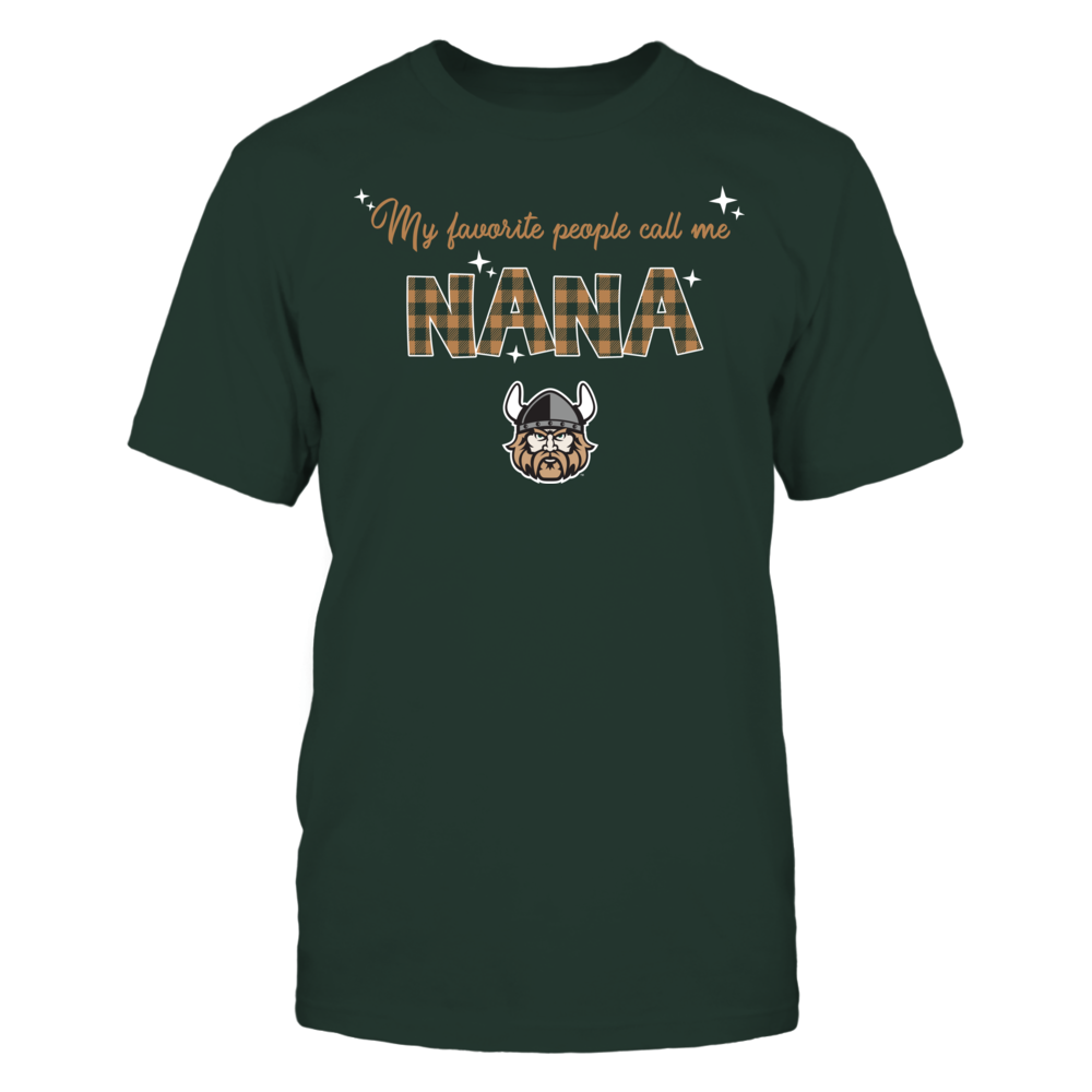 Cleveland State Vikings - My Favorite People Call Me Nana - Checkered Pattern Front picture