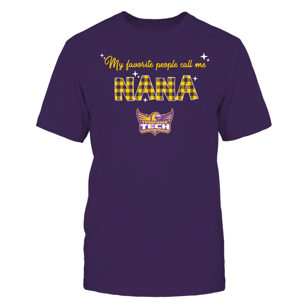 Tennessee Tech Golden Eagles - My Favorite People Call Me Nana - Checkered Pattern Front picture