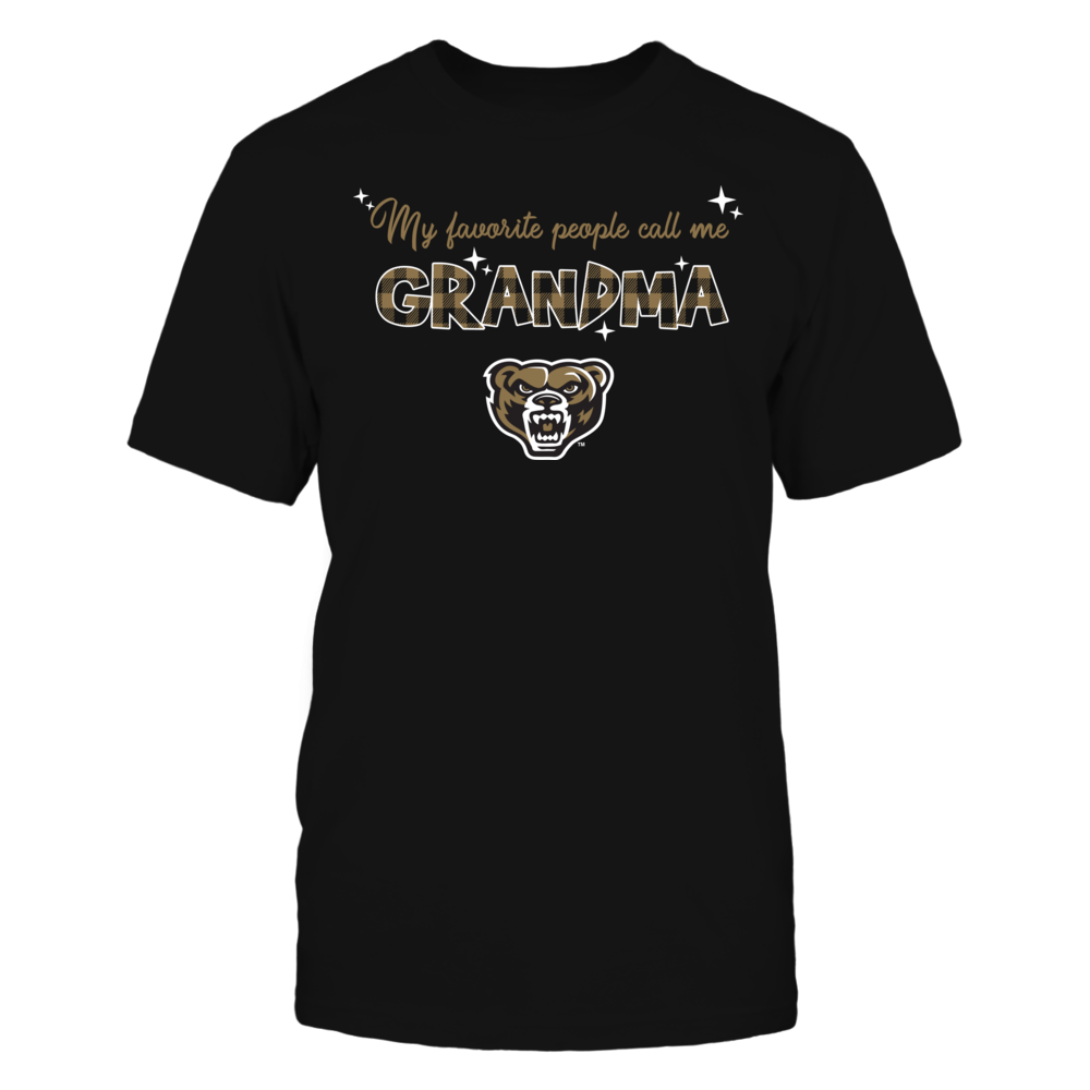 Oakland Golden Grizzlies - My Favorite People Call Me Mimi - Checkered Pattern Front picture