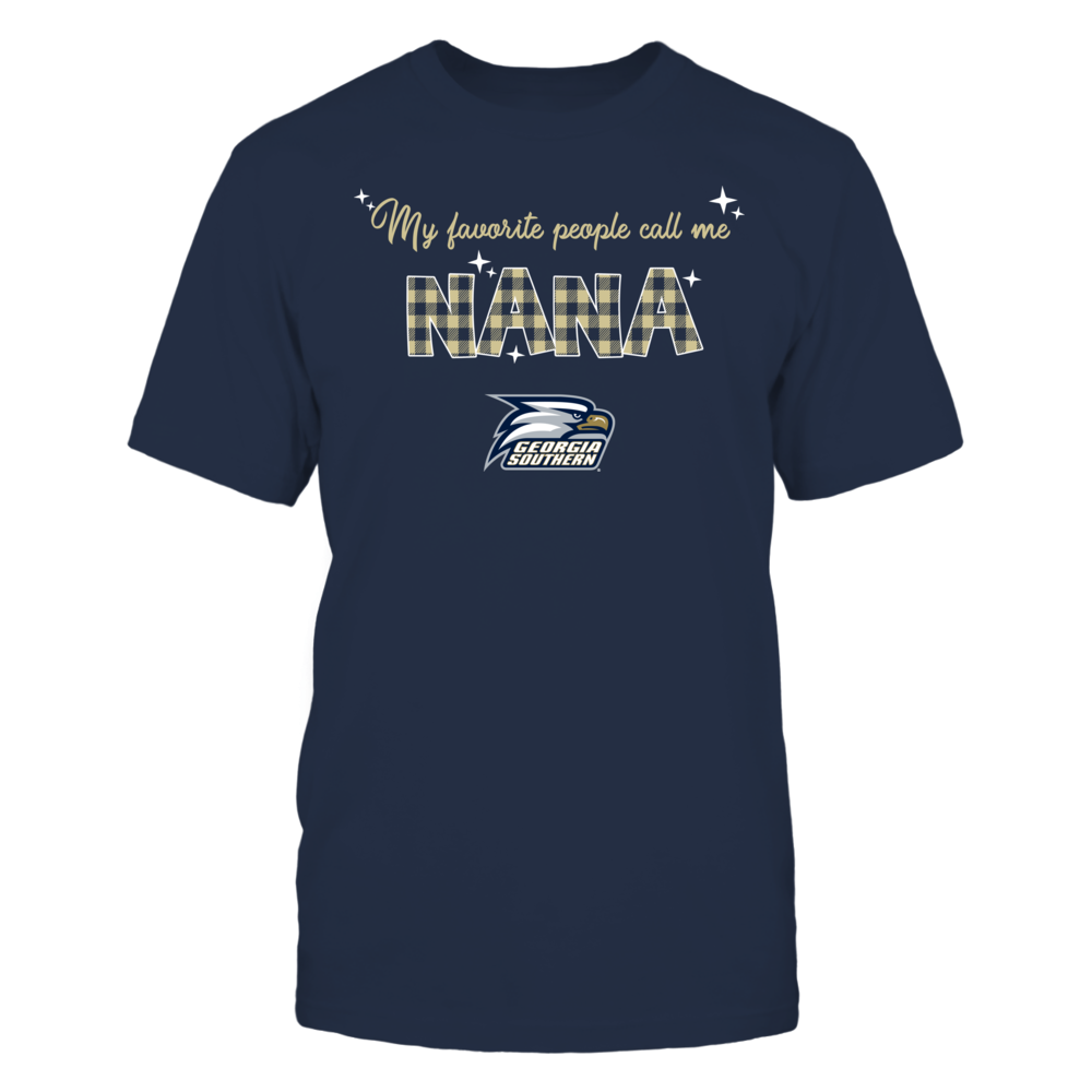 Georgia Southern Eagles - My Favorite People Call Me Nana - Checkered Pattern Front picture