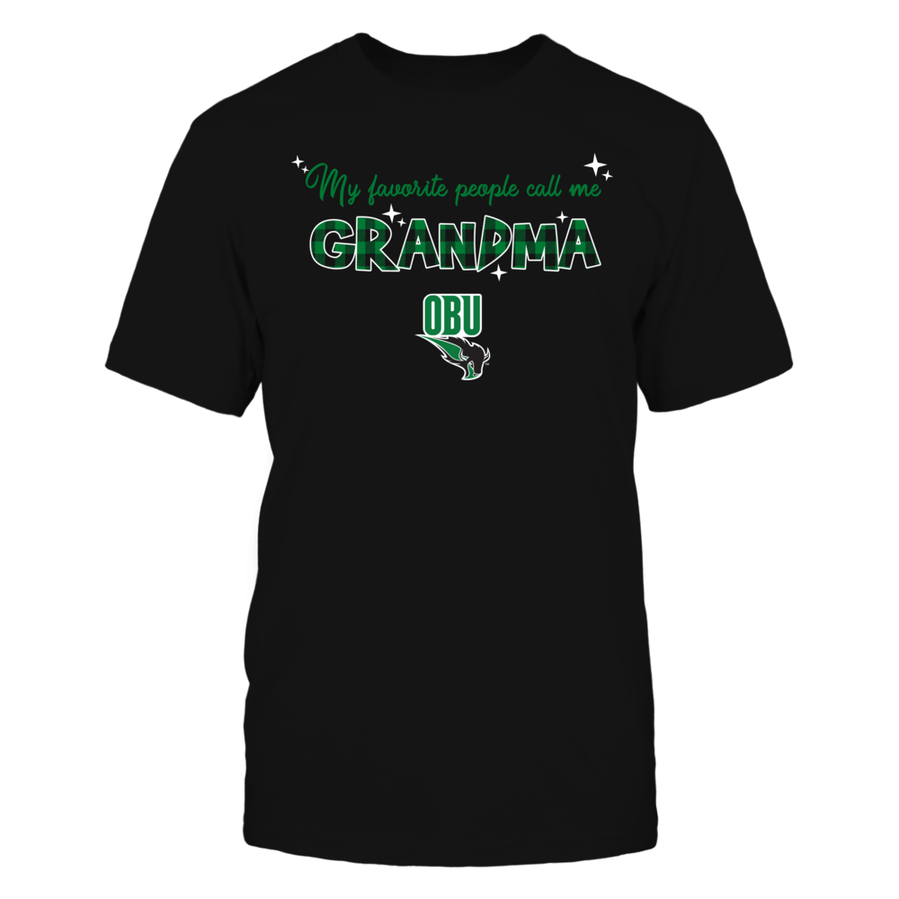 Oklahoma Baptist Bison - My Favorite People Call Me Mimi - Checkered Pattern Front picture