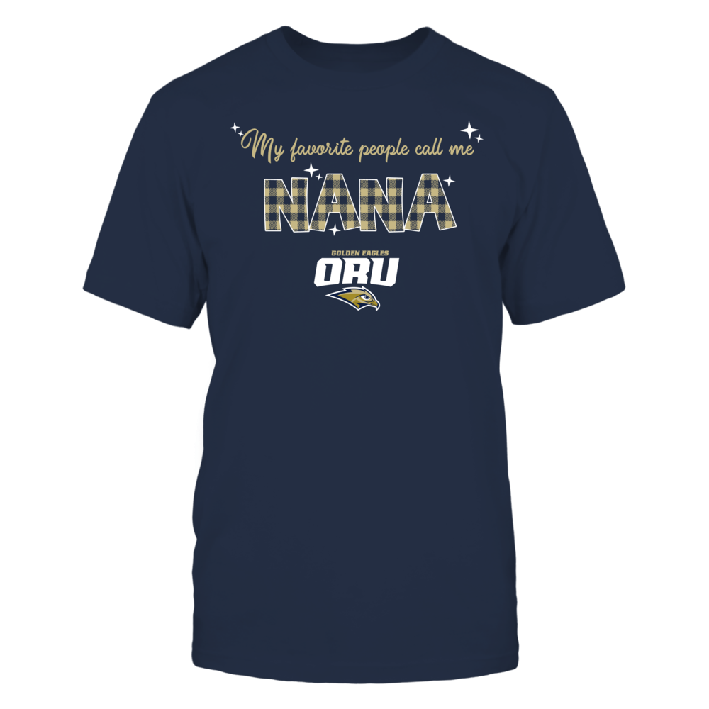 Oral Roberts Golden Eagles - My Favorite People Call Me Nana - Checkered Pattern Front picture