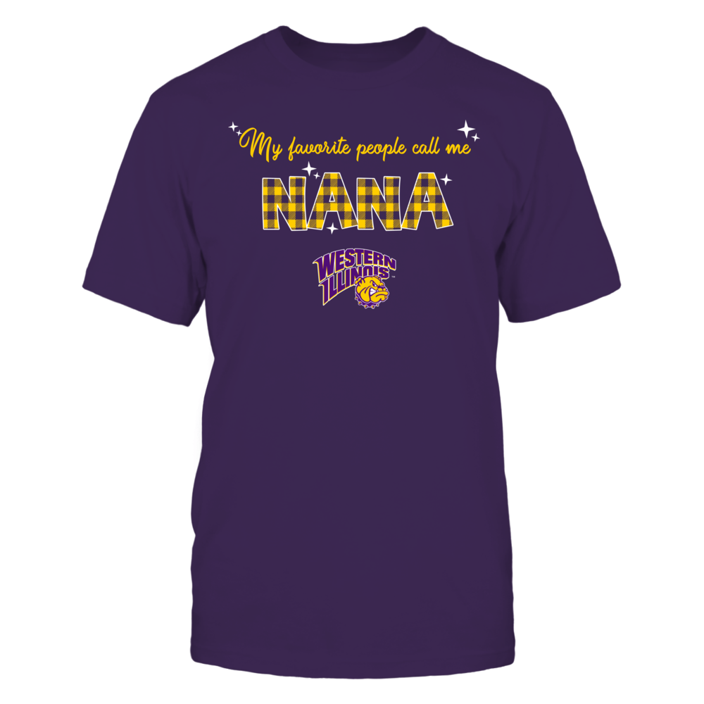 Western Illinois Leathernecks - My Favorite People Call Me Nana - Checkered Pattern Front picture