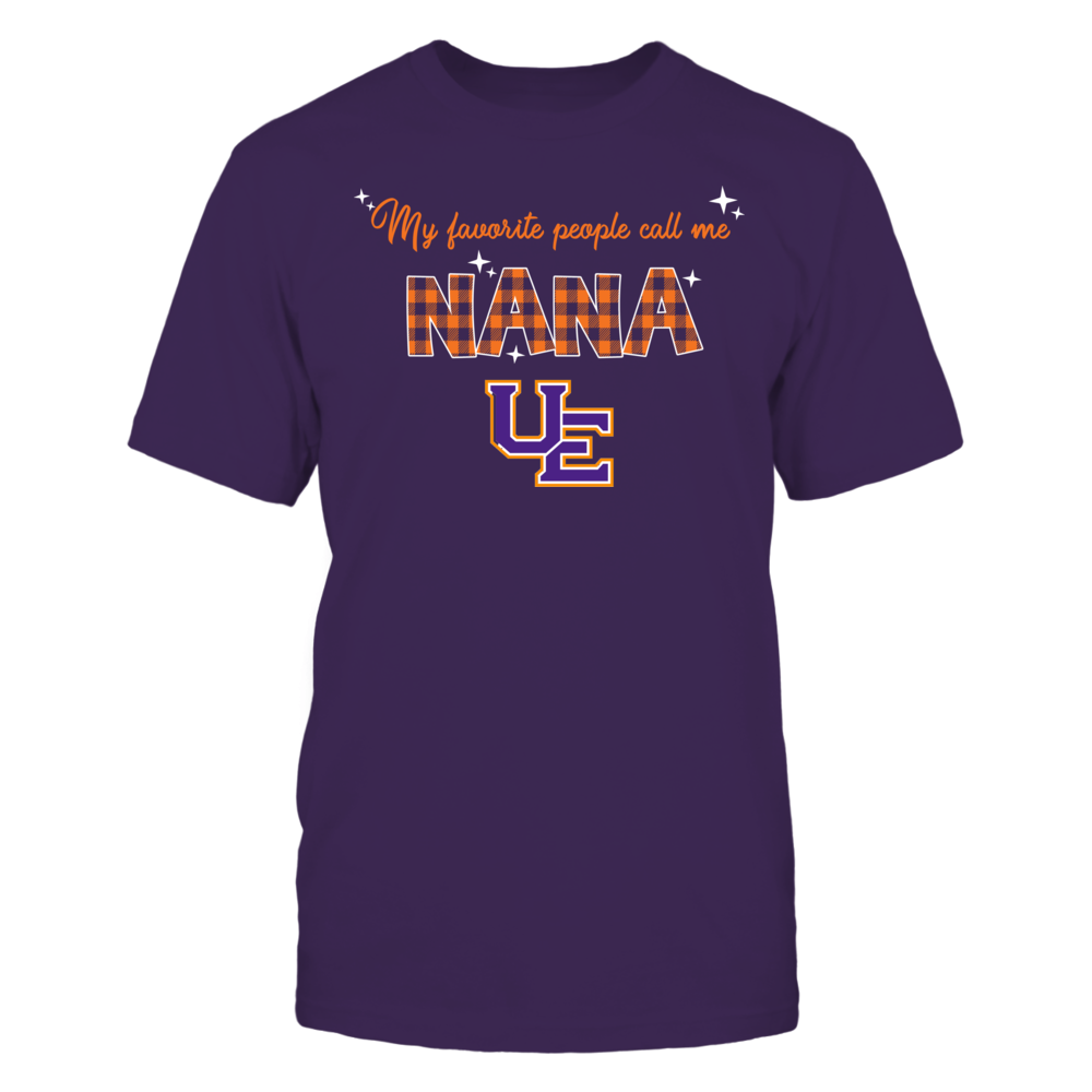 Evansville Purple Aces - My Favorite People Call Me Nana - Checkered Pattern Front picture
