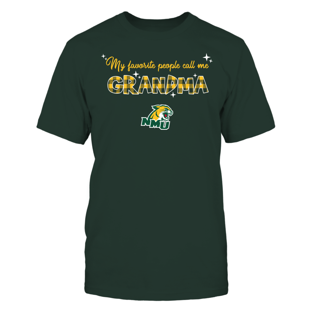 Northern Michigan Wildcats - My Favorite People Call Me Mimi - Checkered Pattern Front picture