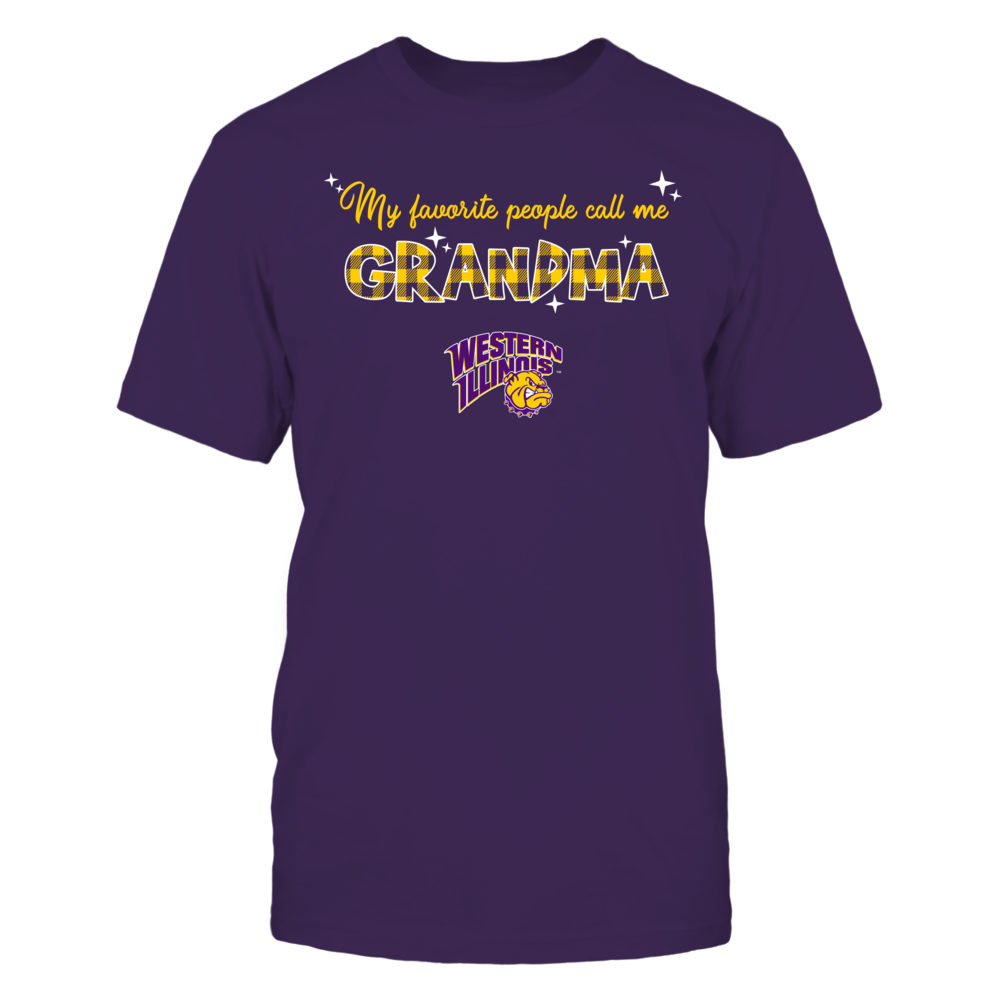 Western Illinois Leathernecks - My Favorite People Call Me Mimi - Checkered Pattern Front picture