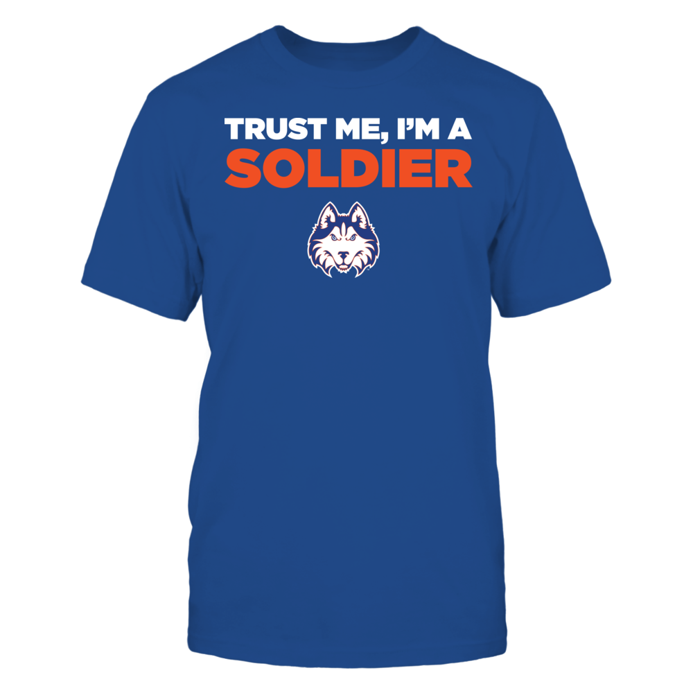 Houston Baptist Huskies - Trust Me - I'm a Soldier - Team Front picture