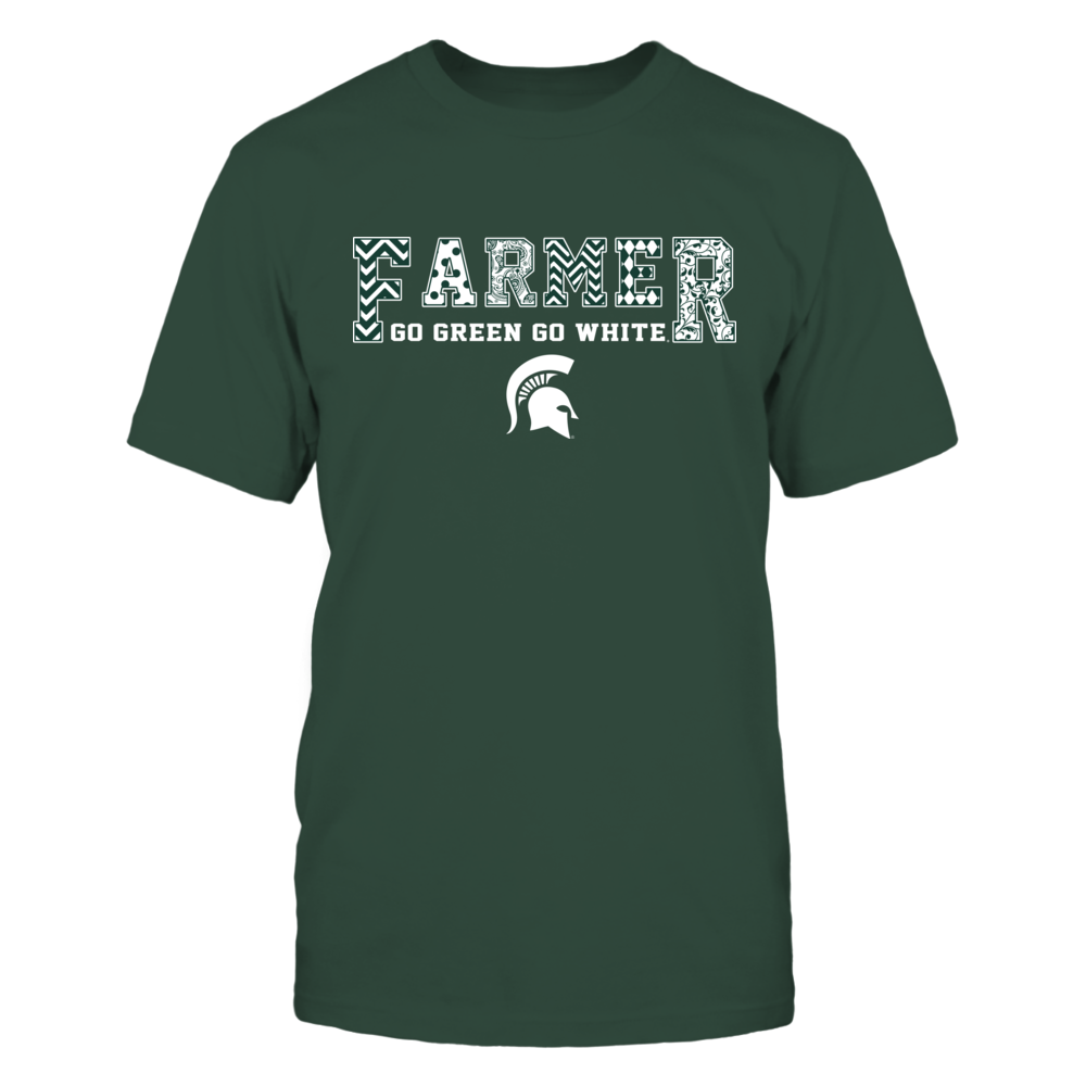 Michigan State Spartans - Farmer - Patterned Team Slogan Front picture