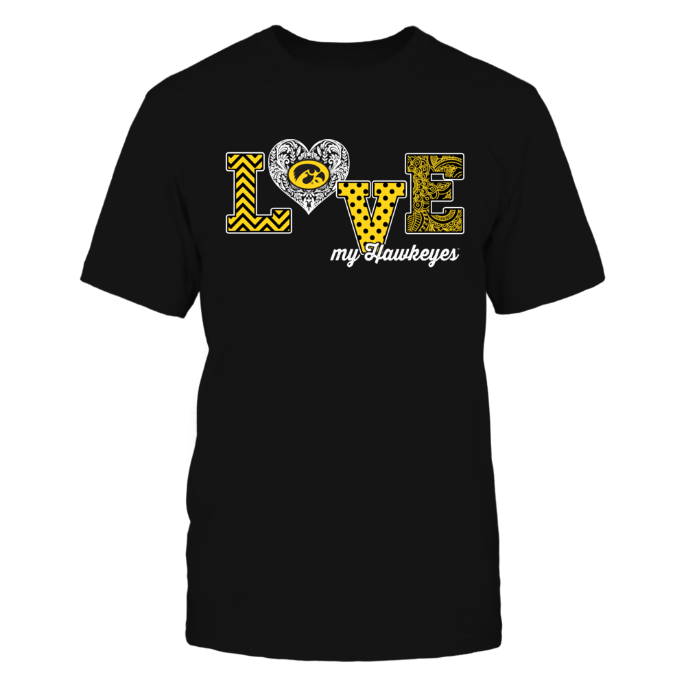 Iowa Hawkeyes - Love My Team - Pattern Heart - Ver 2 Front picture