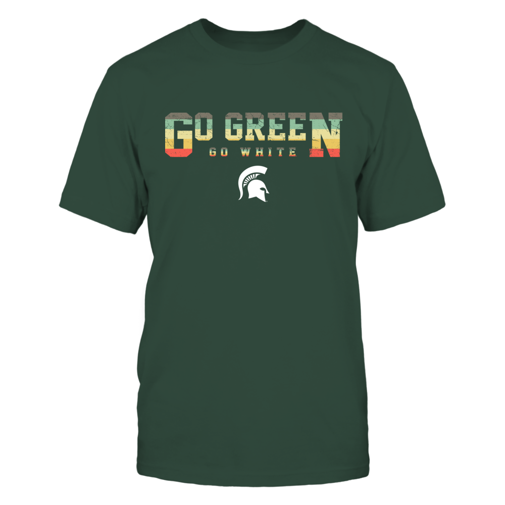Michigan State Spartans - Two Lines - Vintage Graphic Patterned - Slogan Front picture