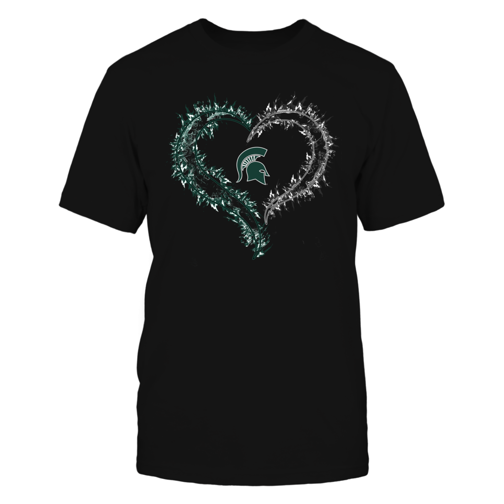 Michigan State Spartans - Half Heart - On Fire Front picture