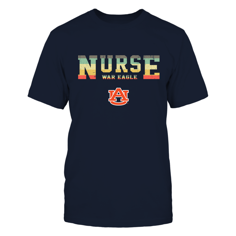 Auburn Tigers - Nurse - Two Lines - Vintage Graphic Patterned - Slogan Front picture
