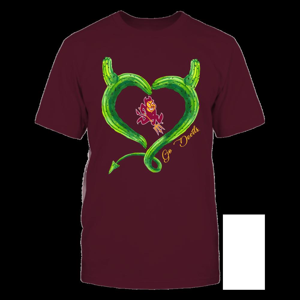 Arizona State Sun Devils - Cactus Inside Evil Heart Front picture