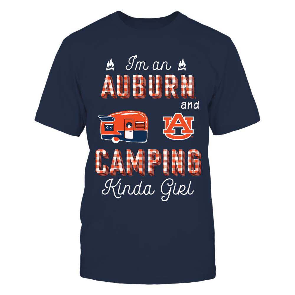 Auburn Tigers - Team Kinda Girl Checkered - Camping - IF17-IC17-DS63 Front picture
