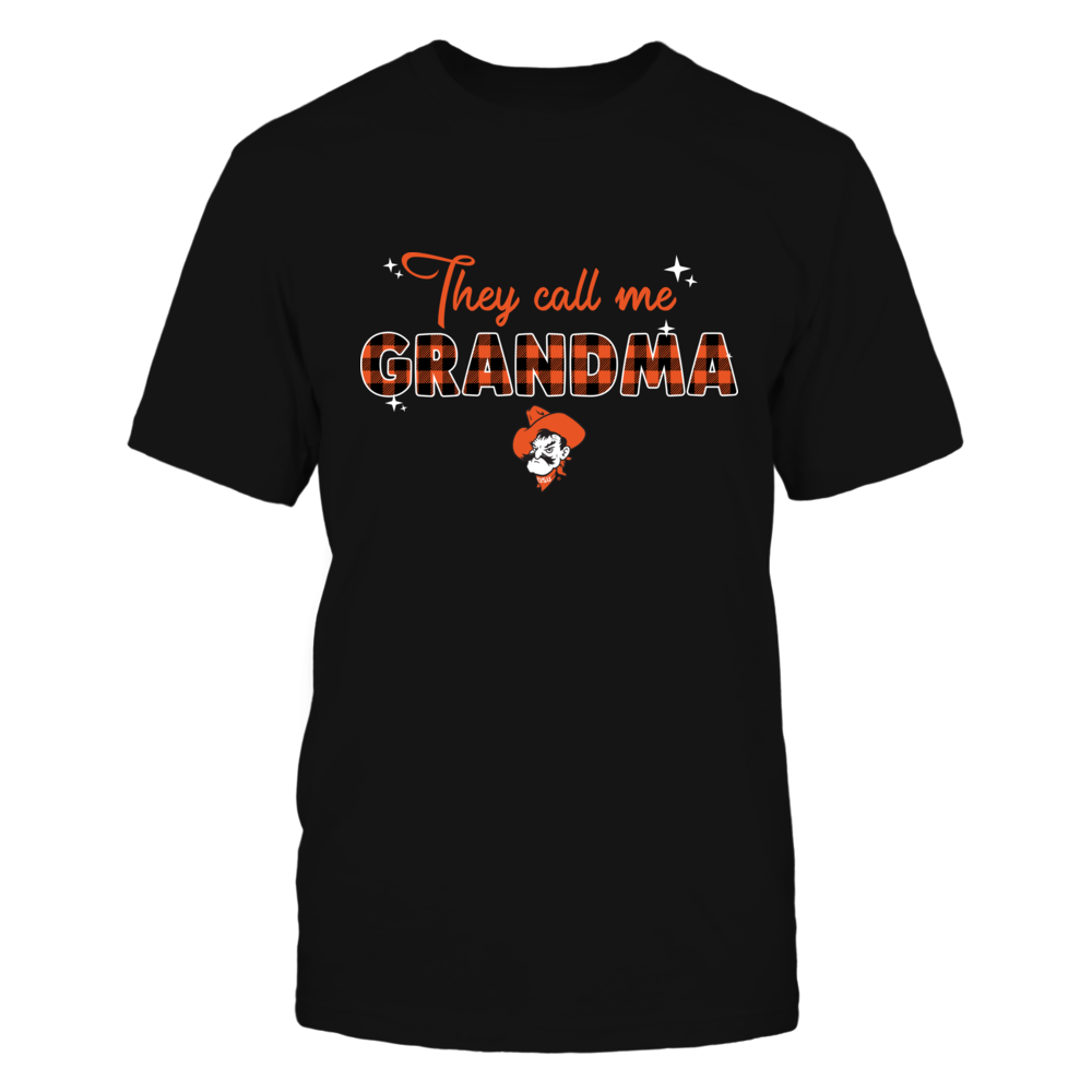 Oklahoma State Cowboys - They Call Med Grandma - Sparkling Checkered Pattern - IF17-IC17-DS27 Front picture