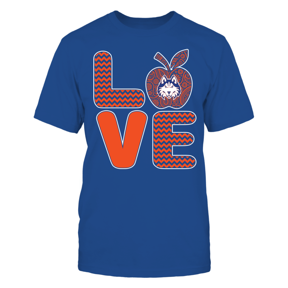 Houston Baptist Huskies - Pattern Stacked - Love - Football - Team Front picture