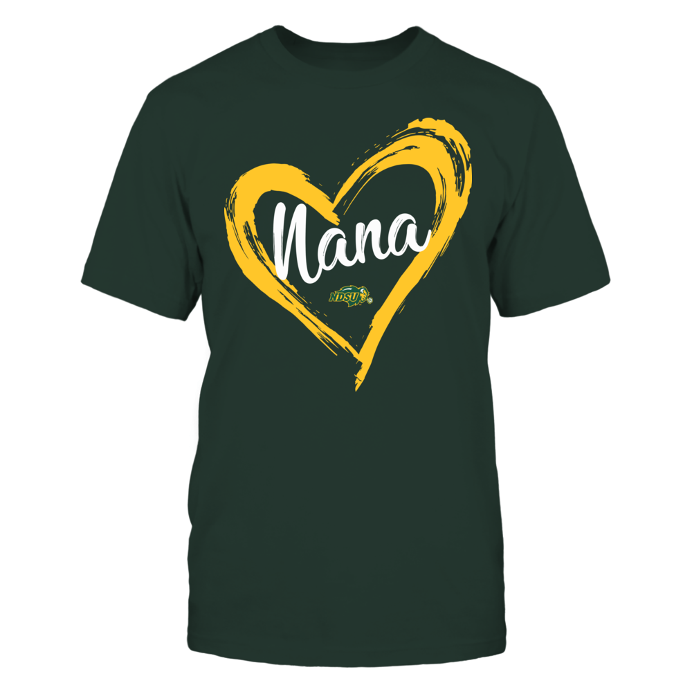 North Dakota State Bison - Drawing Heart - Nana Front picture