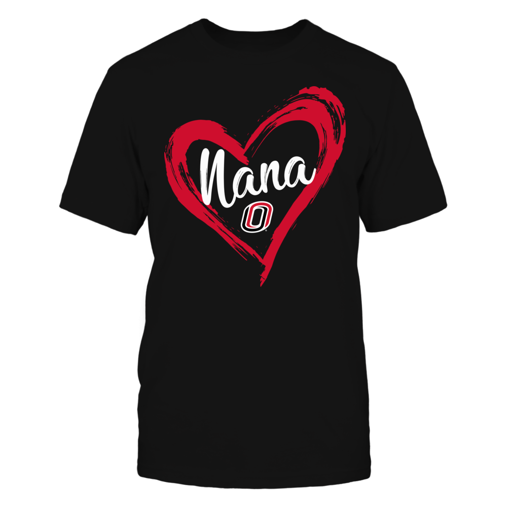 Nebraska Omaha Mavericks - Drawing Heart - Nana Front picture