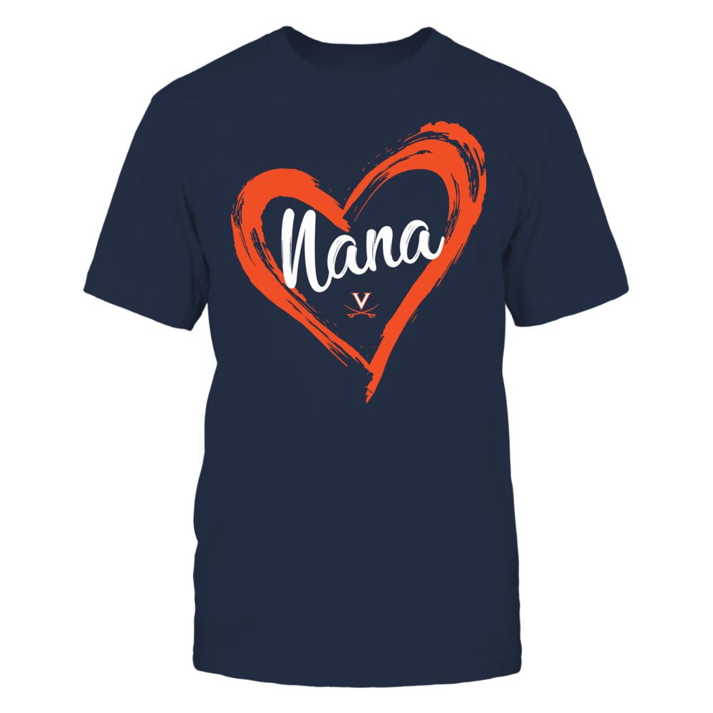 Virginia Cavaliers - Drawing Heart - Nana Front picture