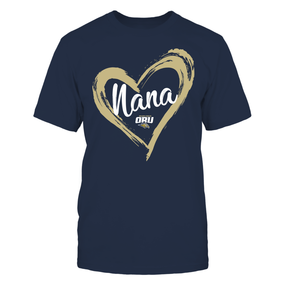 Oral Roberts Golden Eagles - Drawing Heart - Nana Front picture