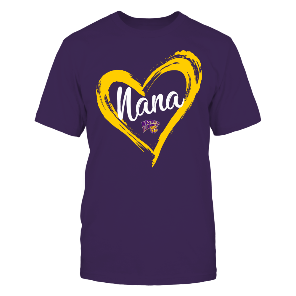 Western Illinois Leathernecks - Drawing Heart - Nana Front picture