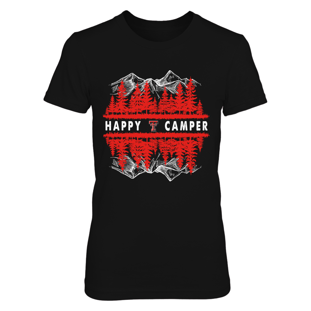Texas Tech Red Raiders - Camping - Happy Camper - Up Side Down Mountain - IF13-IC13-DS64 Front picture