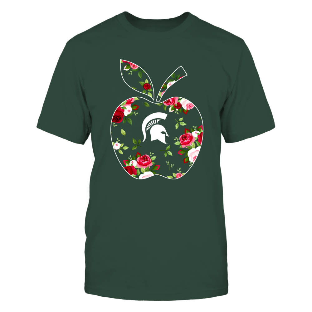 Michigan State Spartans - Teacher - Floral Apple - IF17-IC17-DS45 Front picture