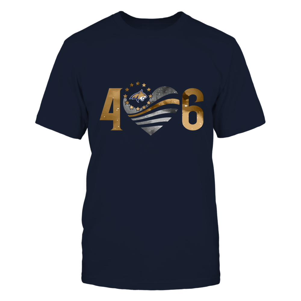 Montana State Bobcats - Area Code - Galaxy Flag Heart - IF-IC13-DS75 Front picture