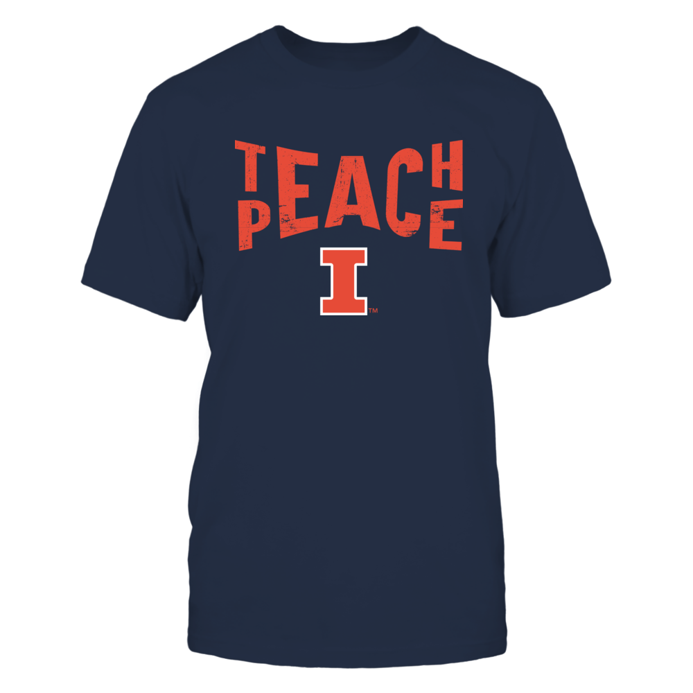 Illinois Fighting Illini - Teach Peace - Team Front picture