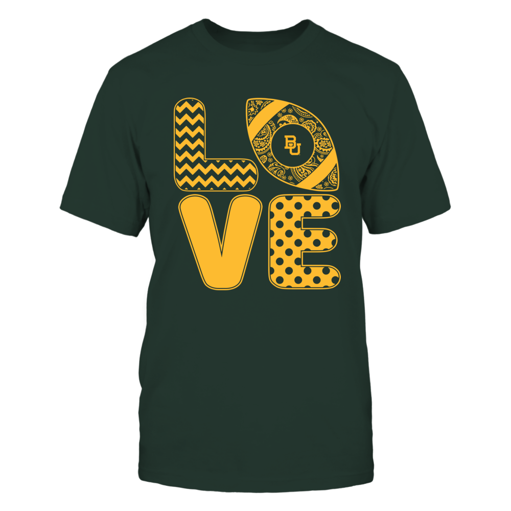 Baylor Bears - Patterned Stack Love - Football - Team Front picture
