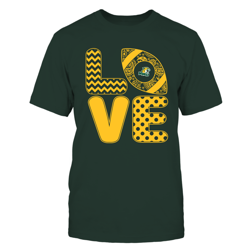 Northern Michigan Wildcats - Patterned Stack Love - Football - Team Front picture