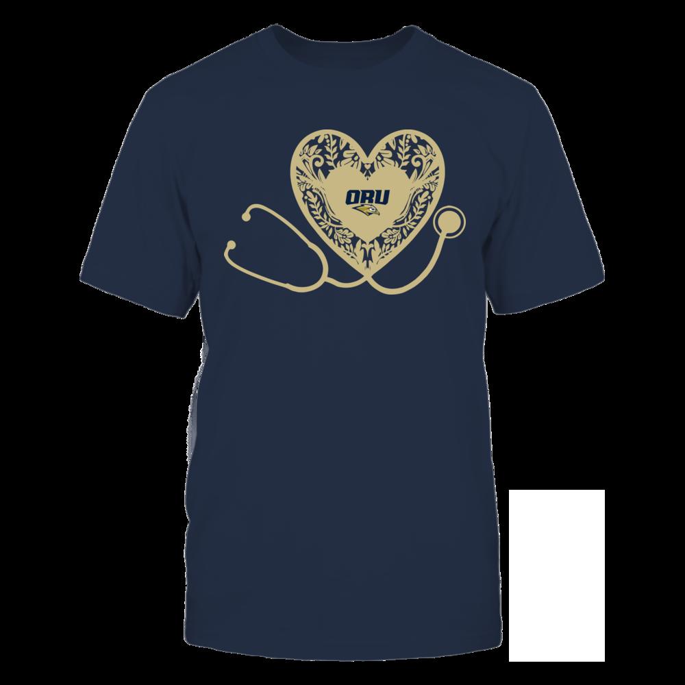 Oral Roberts Golden Eagles - Nurse - Floral Pattern - Stethoscope Front picture