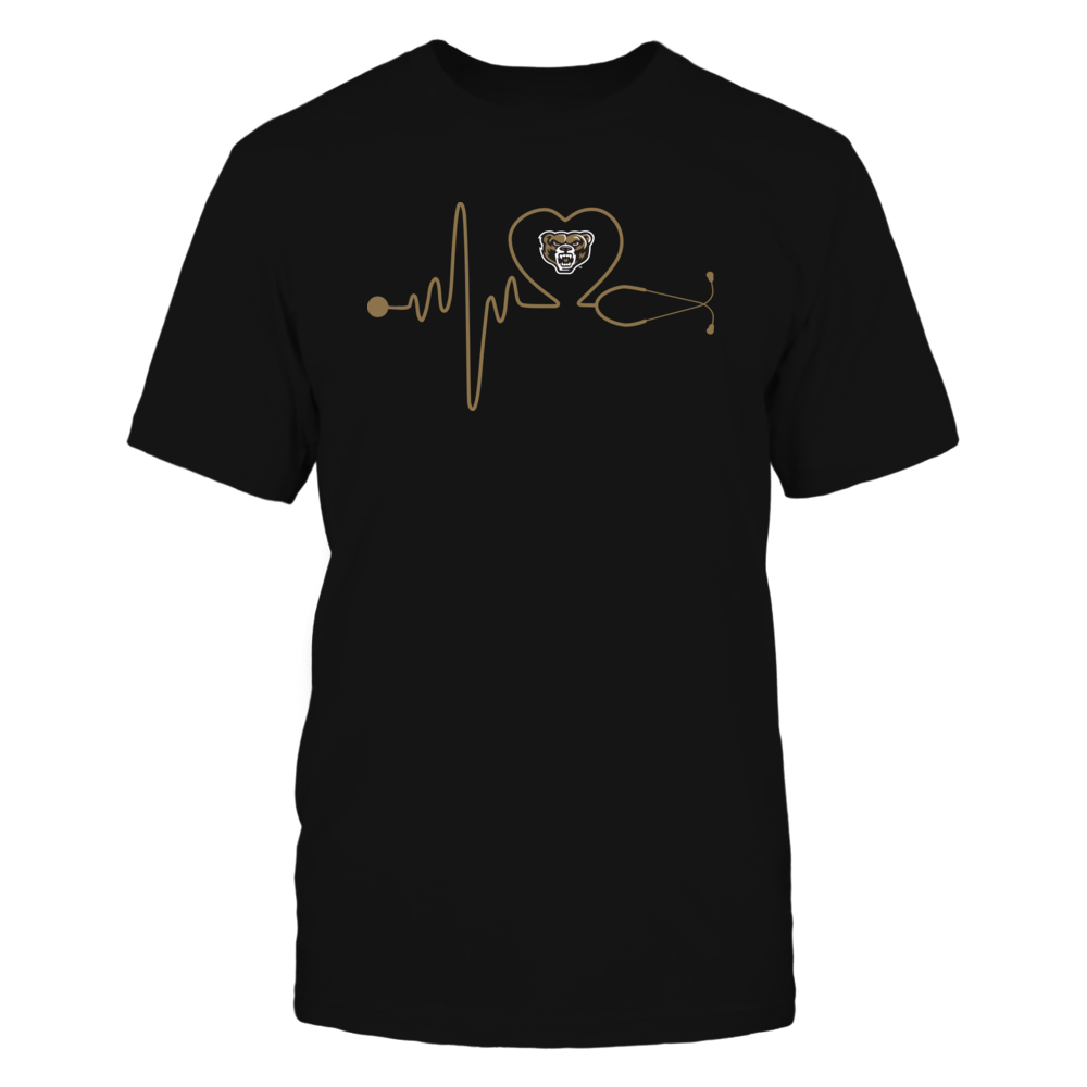 Oakland Golden Grizzlies - Stethoscope - Heart Beat Front picture