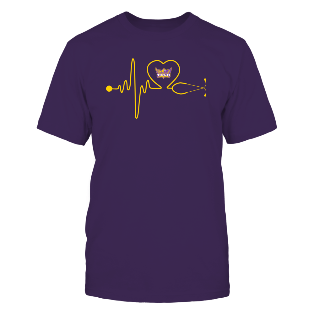 Tennessee Tech Golden Eagles - Stethoscope - Heart Beat Front picture