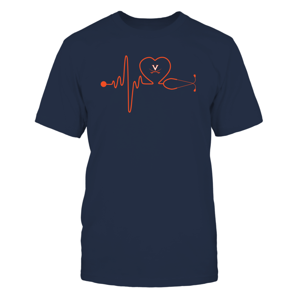 Virginia Cavaliers - Stethoscope - Heart Beat Front picture