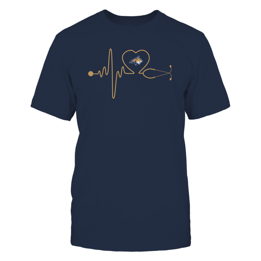 Montana State Bobcats - Stethoscope - Heart Beat Front picture