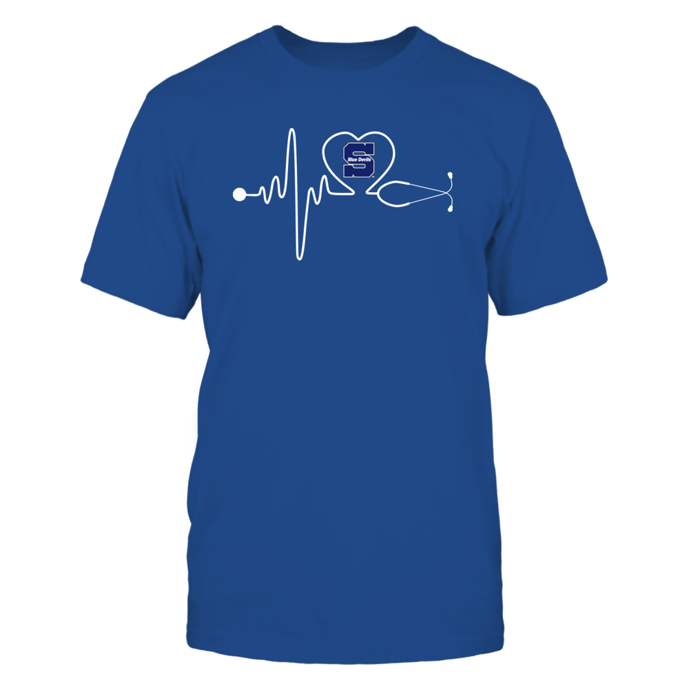 Wisconsin Stout Blue Devils - Stethoscope - Heart Beat Front picture