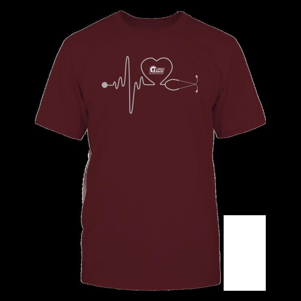 Arkansas Little Rock Trojans - Stethoscope - Heart Beat Front picture