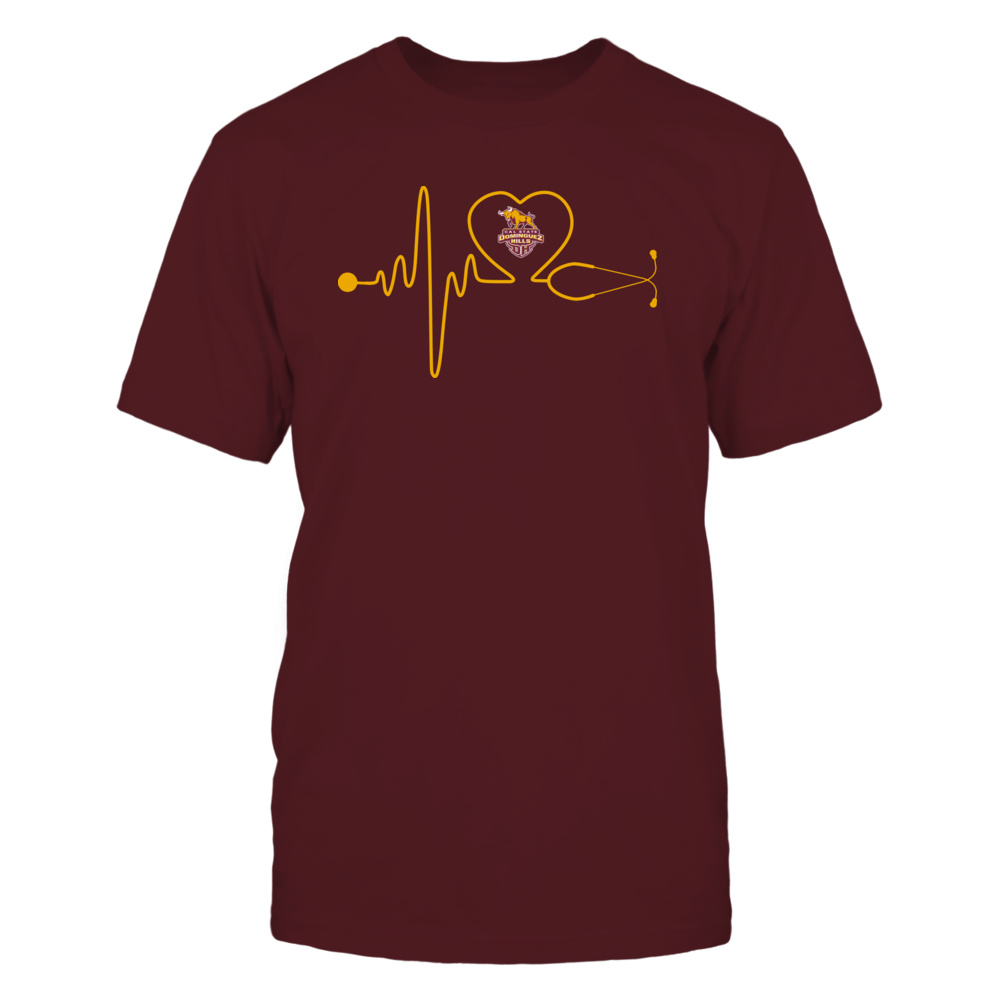 Cal State Dominguez Hills Toros - Stethoscope - Heart Beat Front picture