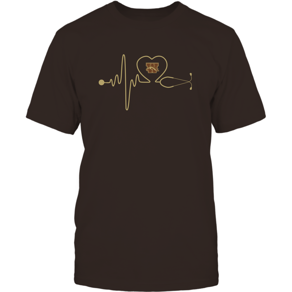 Western Michigan Broncos - Stethoscope - Heart Beat Front picture