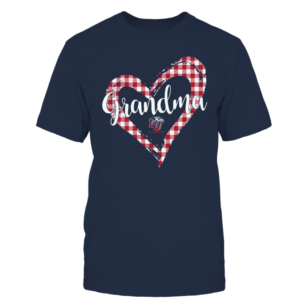 Liberty Flames - Checkered Heart Outline - Grandma Front picture