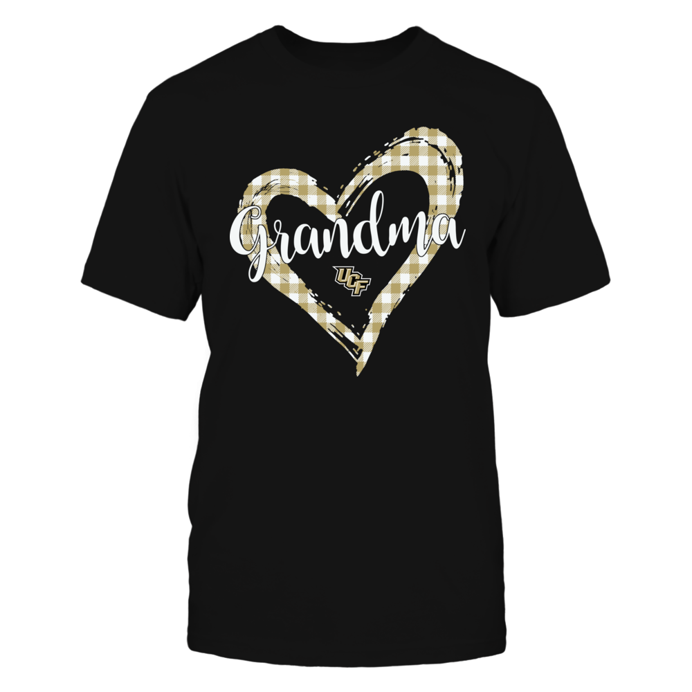 UCF Knights - Checkered Heart Outline - Grandma Front picture
