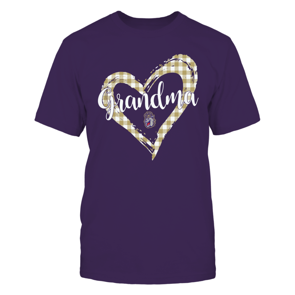James Madison Dukes - Checkered Heart Outline - Grandma Front picture