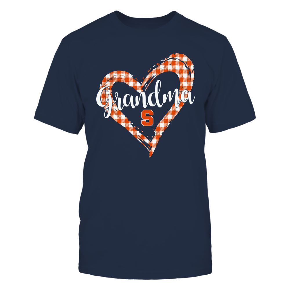 Syracuse Orange - Checkered Heart Outline - Grandma Front picture