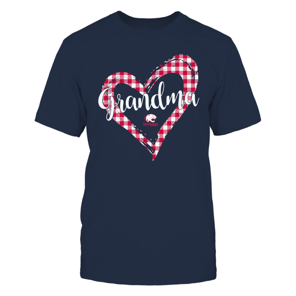 South Alabama Jaguars - Checkered Heart Outline - Grandma Front picture