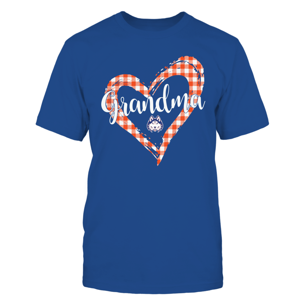 Houston Baptist Huskies - Checkered Heart Outline - Grandma Front picture