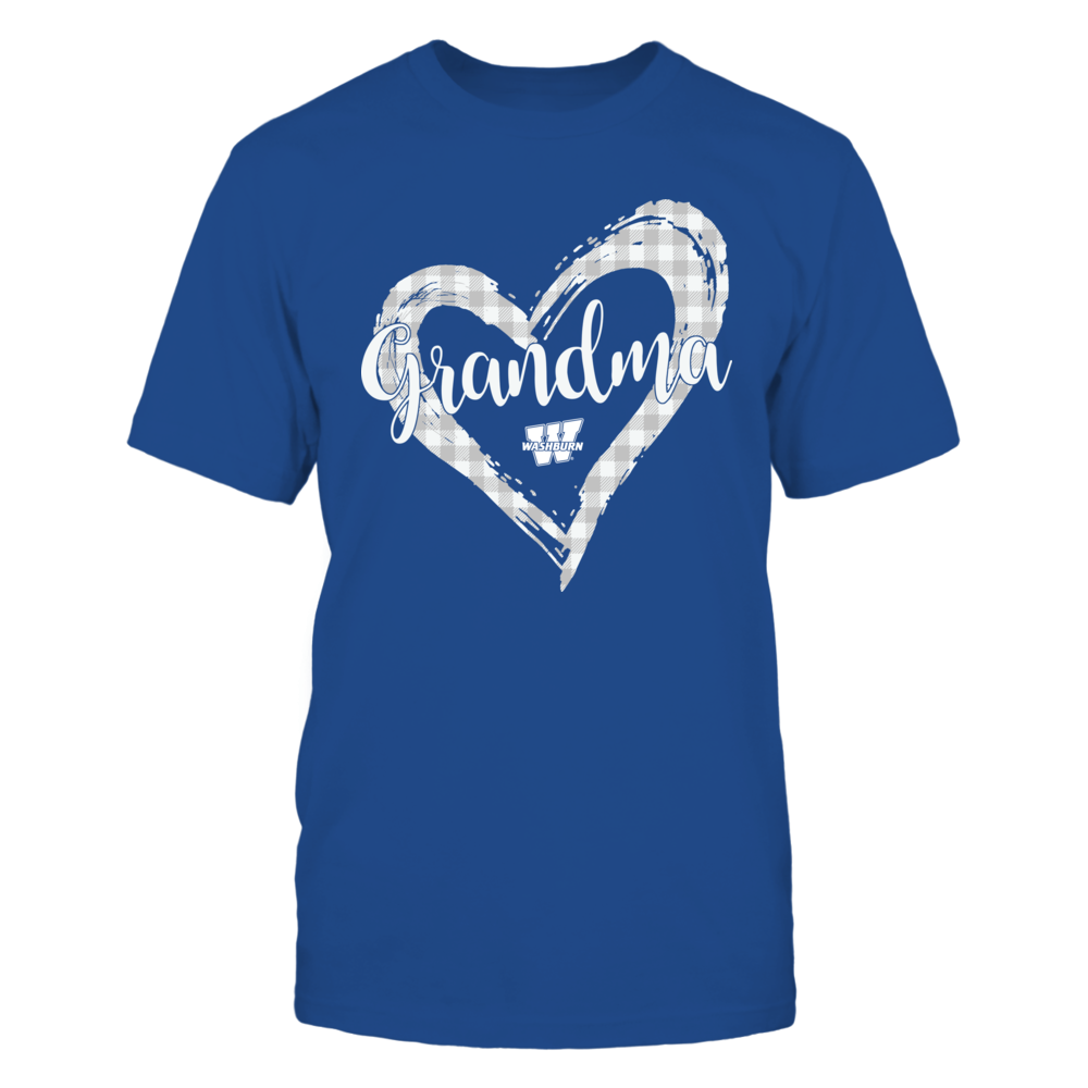 Washburn Ichabods - Checkered Heart Outline - Grandma Front picture